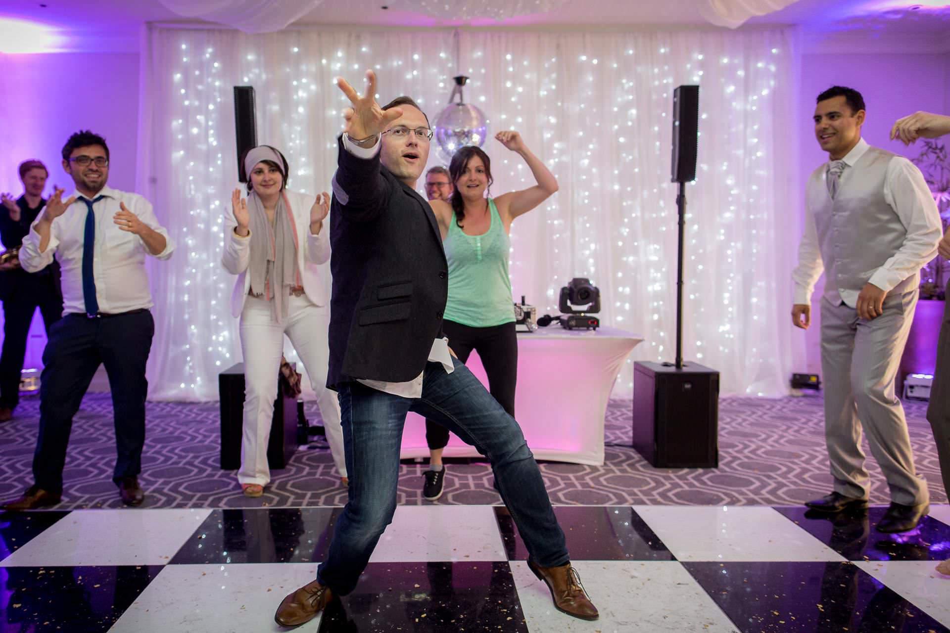 Wotton House wedding friends dance performance
