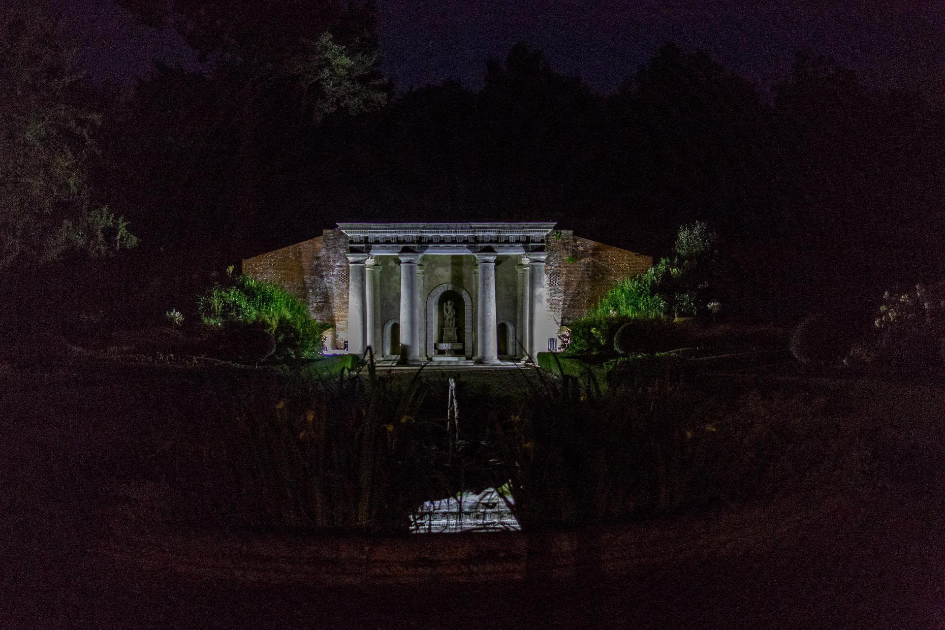 Wotton House wedding photo of the in the cave