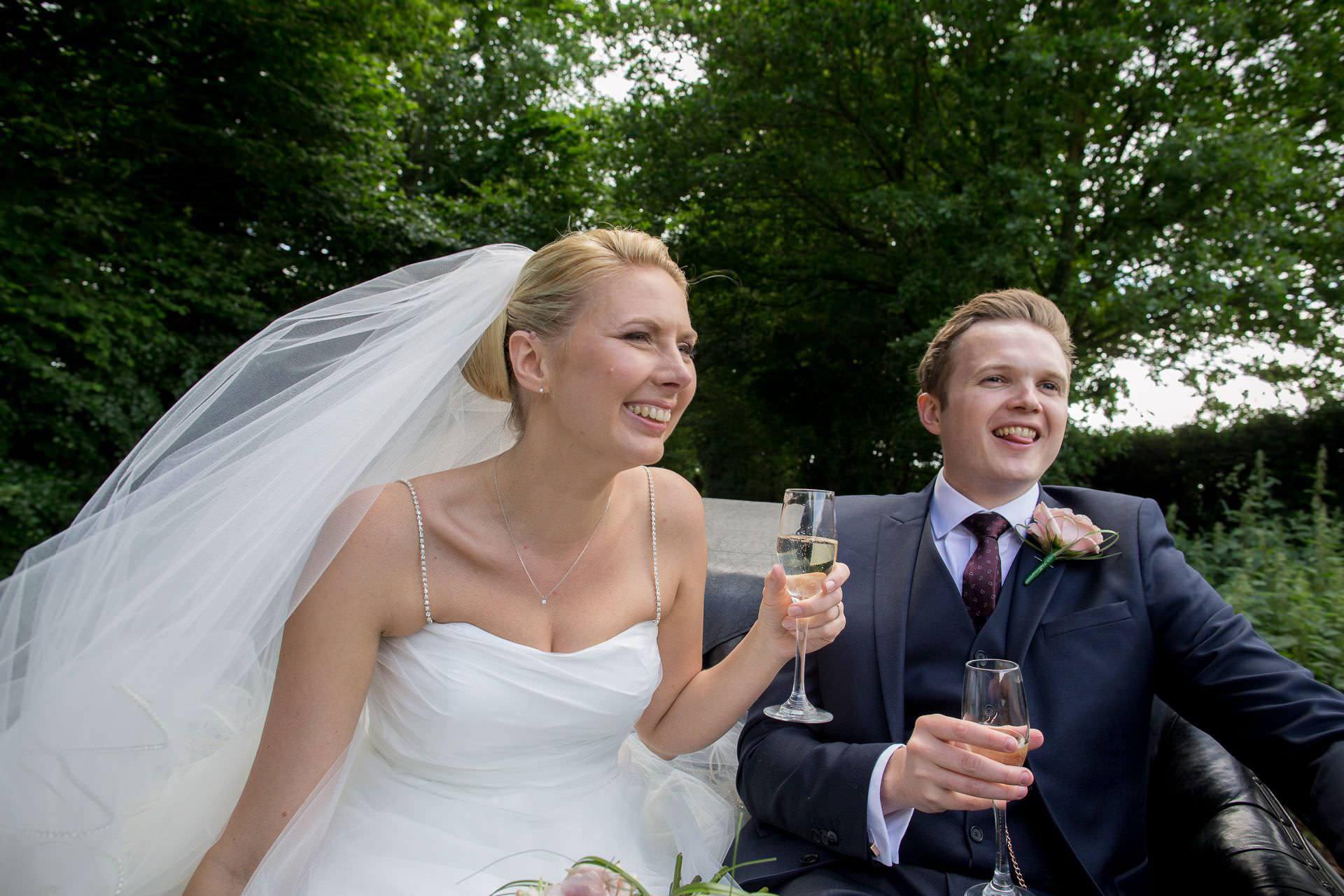 Wotton House wedding champagne glasses