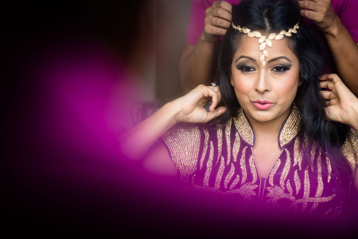 woman on the asian wedding photography