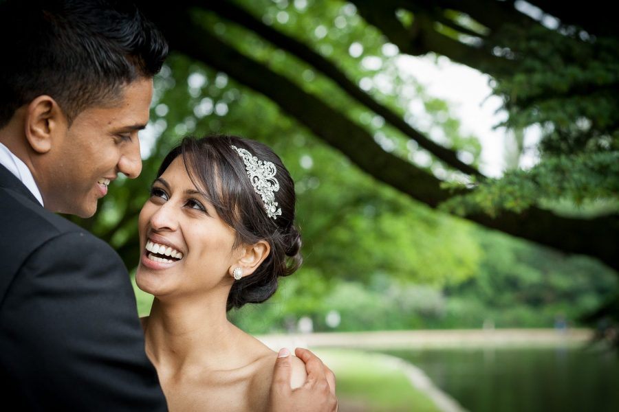 asian wedding photography of the young couple