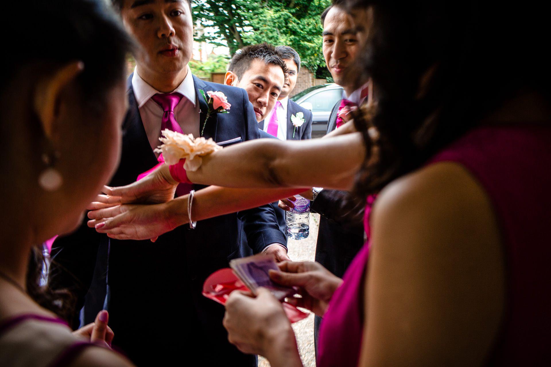 Chinese Wedding photo of haggling