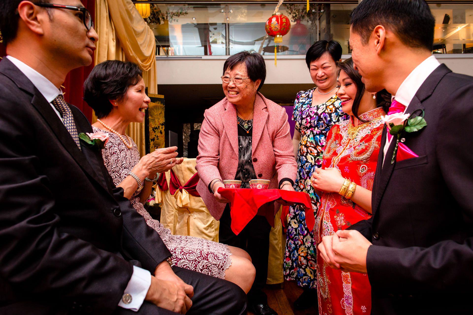 Chinese Wedding photo of tea ceremony