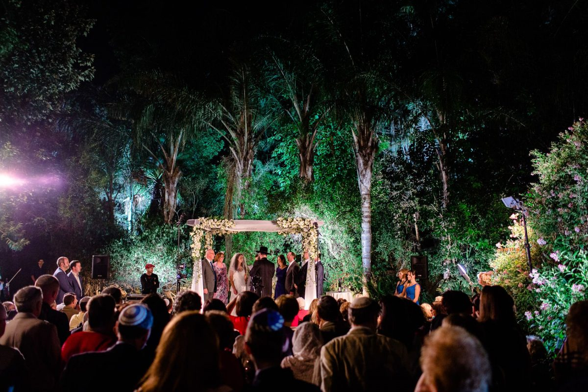 destination wedding photography at jewish ceremony under chuppah