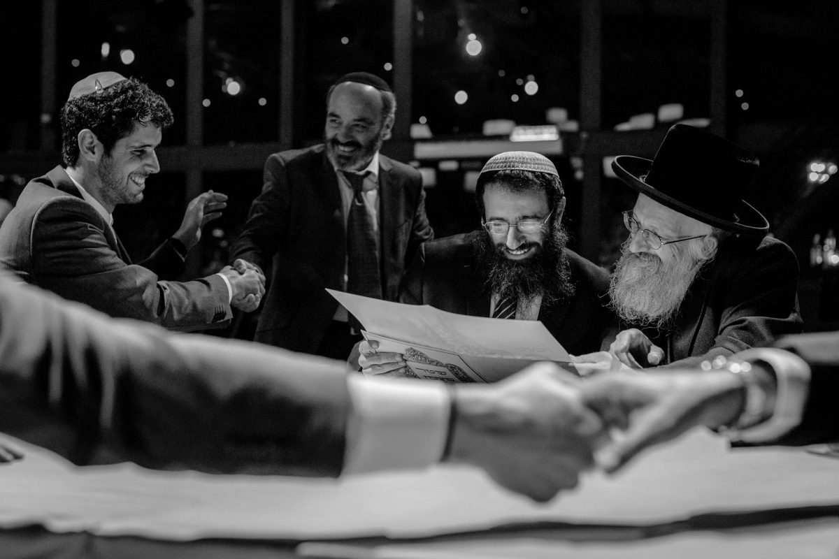 Signing the Ketubah by the Jewish Groom and the Rabin