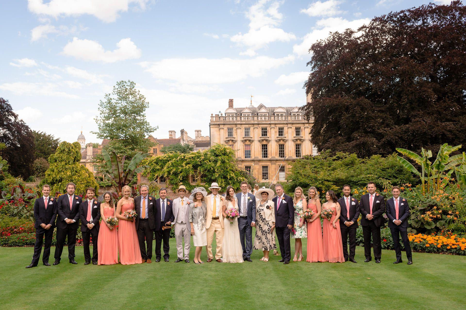 wedding guests posing