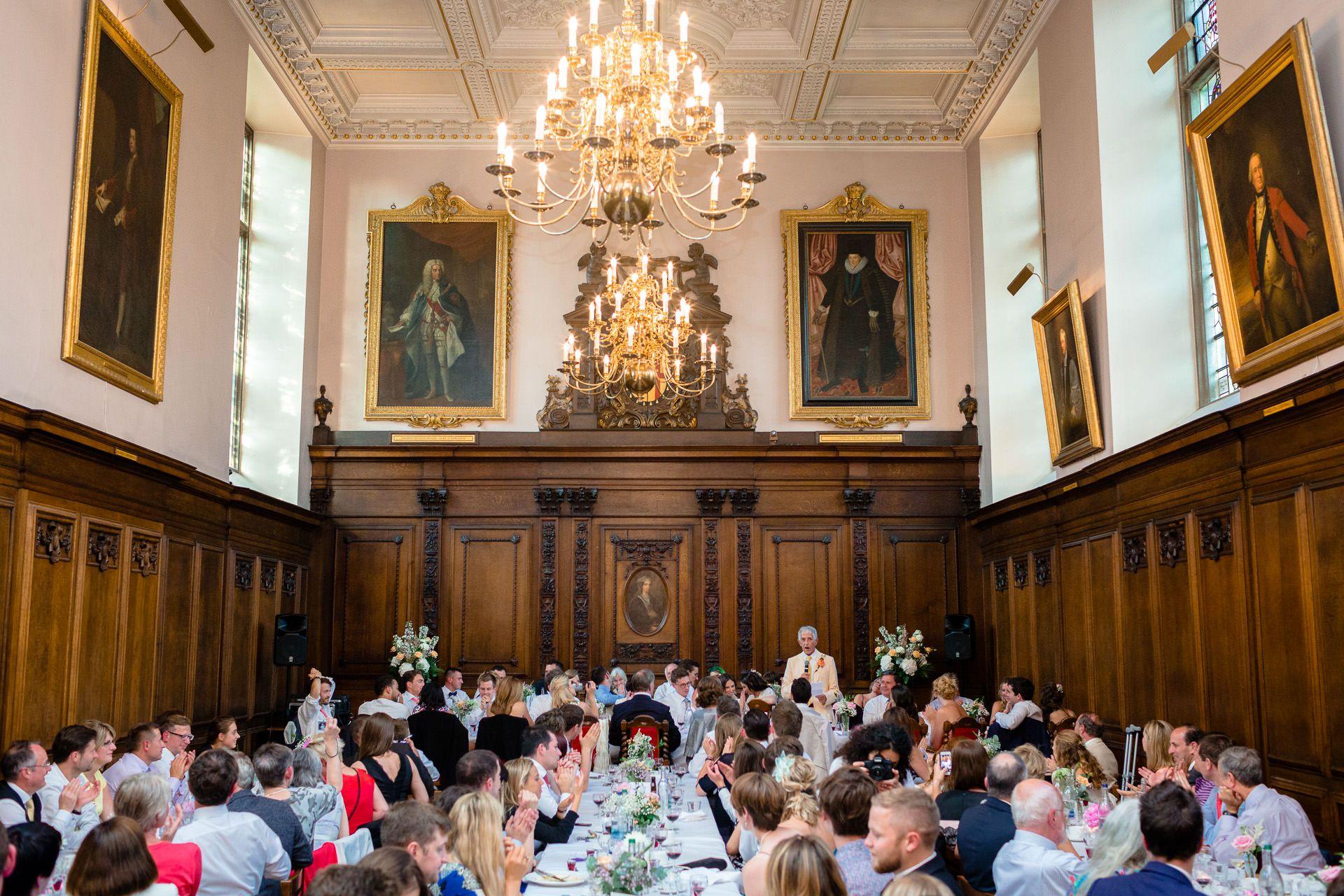 elegant wedding party in london