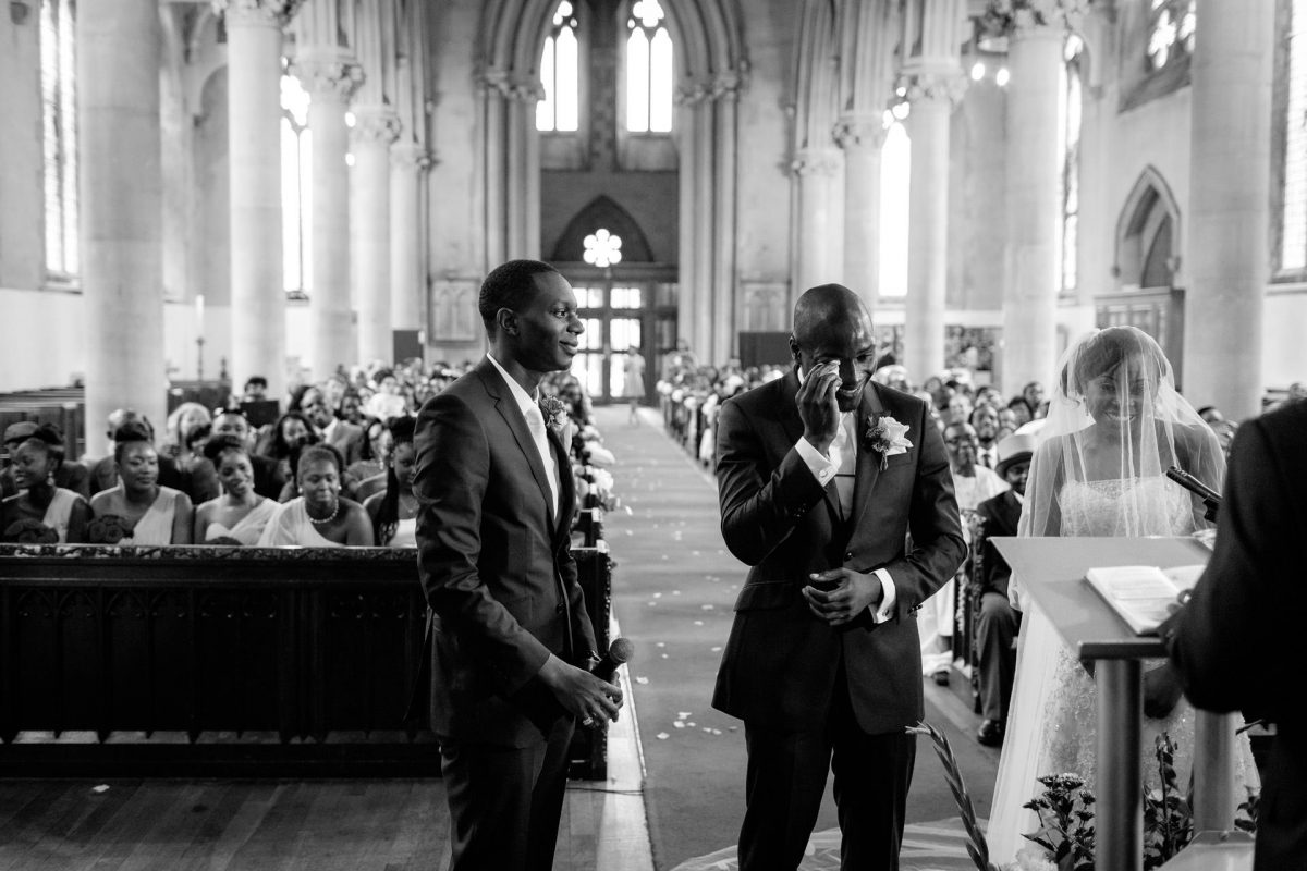 nigerian wedding photography in the church in london