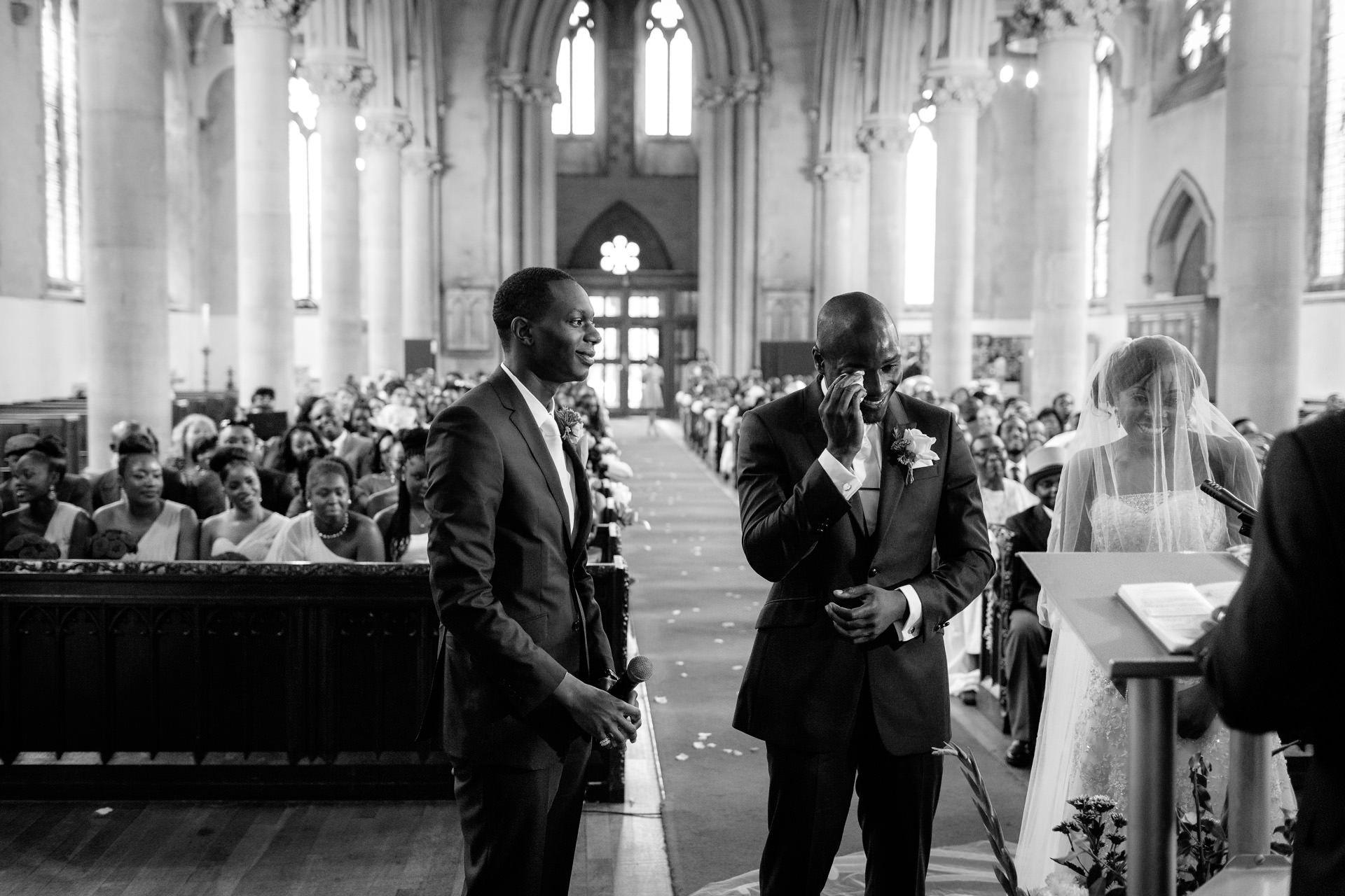 nigerian wedding photography in the church in london