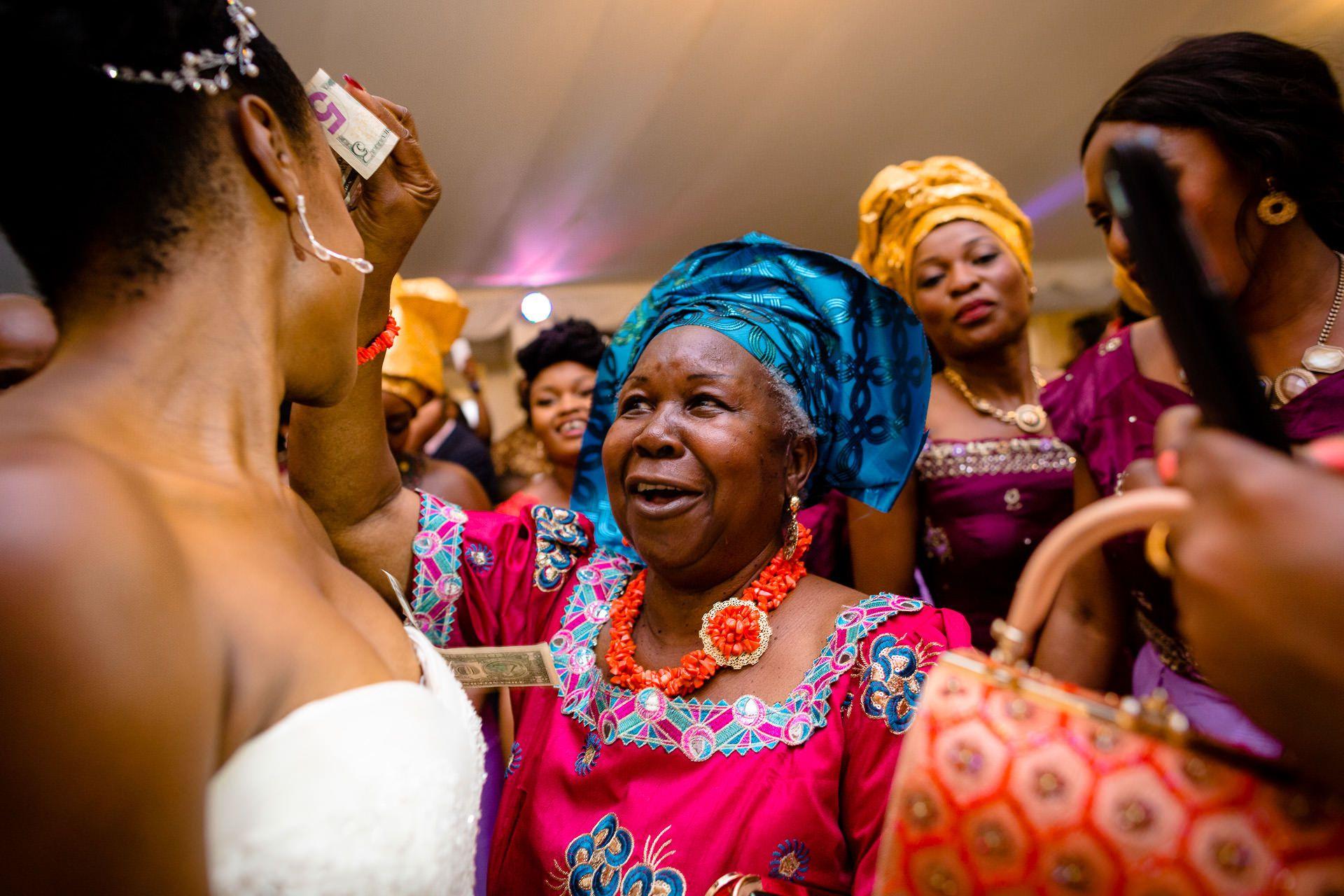 Nigerian Wedding Photographer money dance