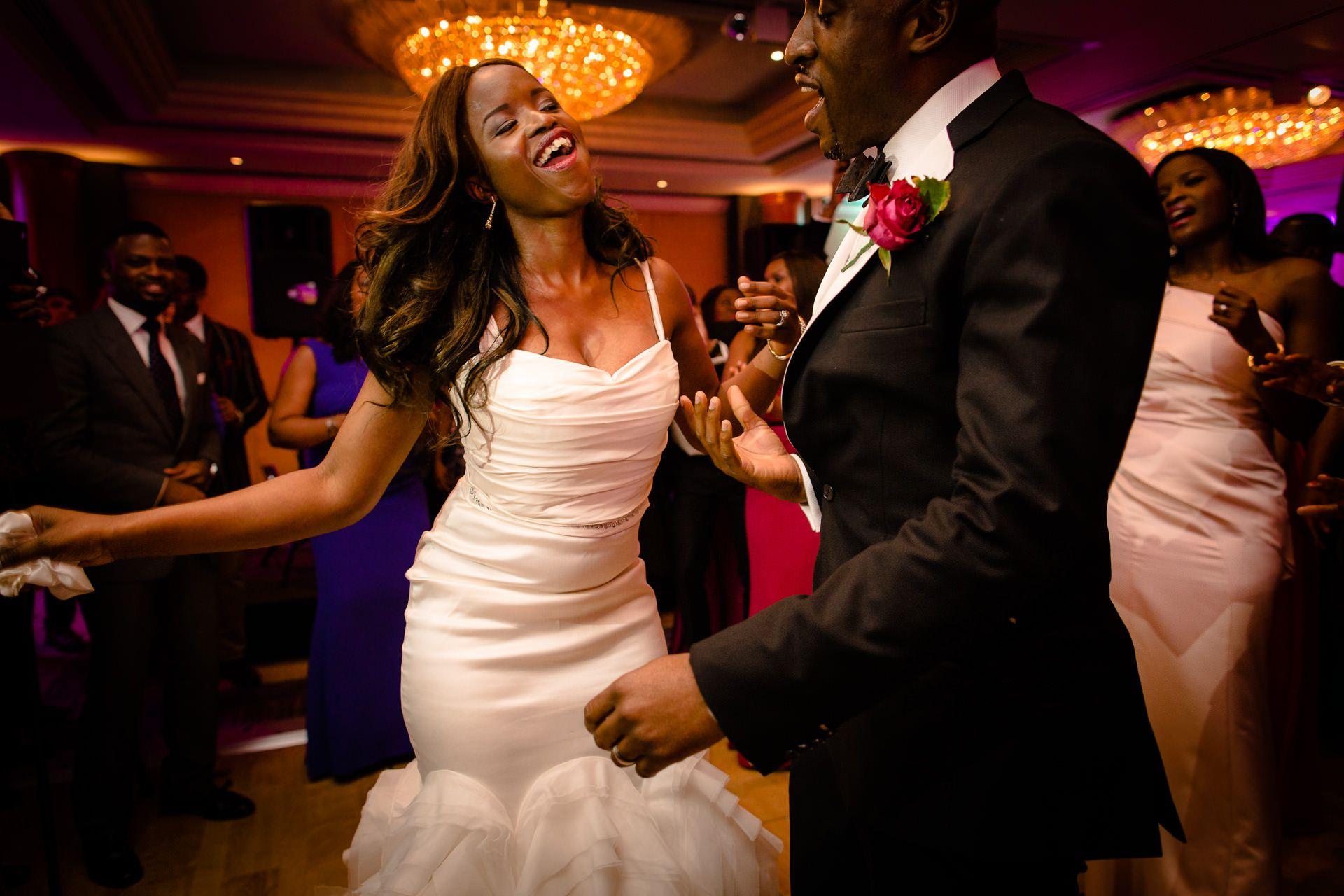 Nigerian Wedding Photography dance party