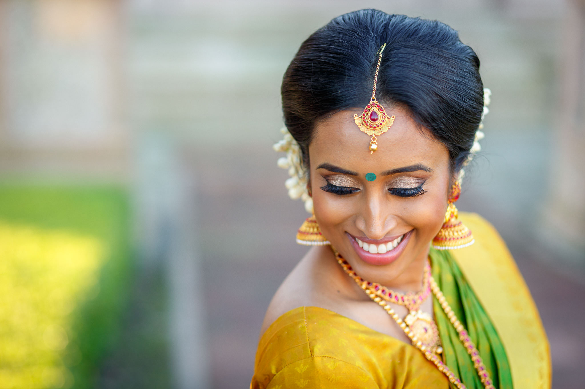 Asian Wedding Photographer London portrait of the bride in sari