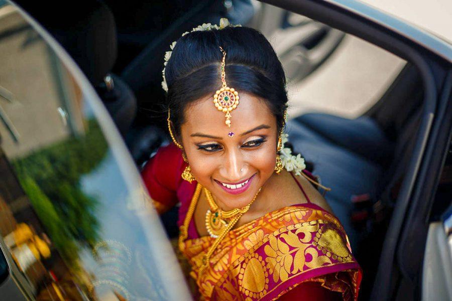 portrait of an asian bride
