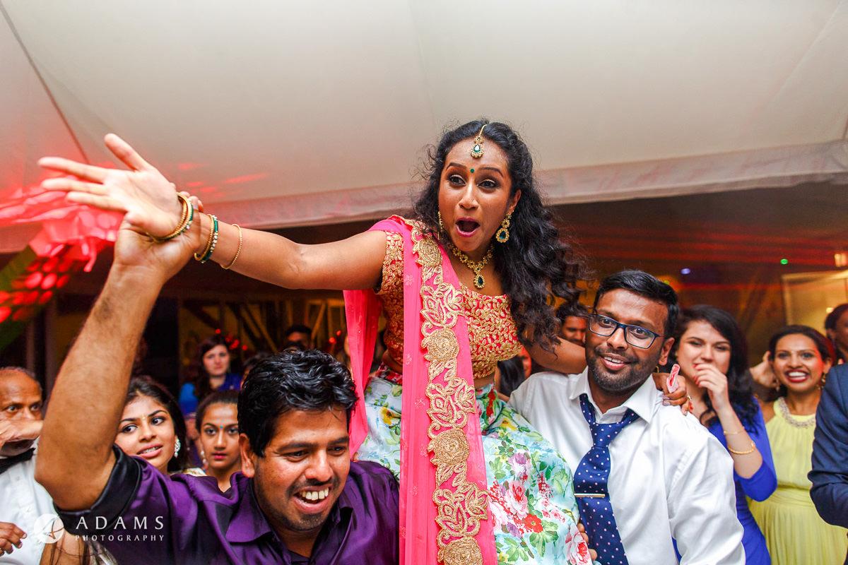asian wedding party dance floor