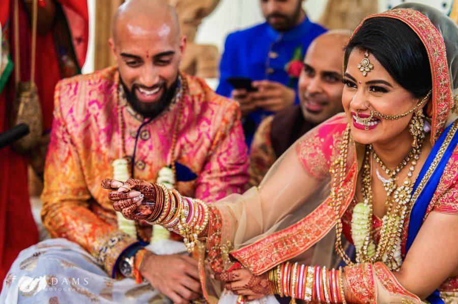 Indina wedding ceremony bride is winning the games