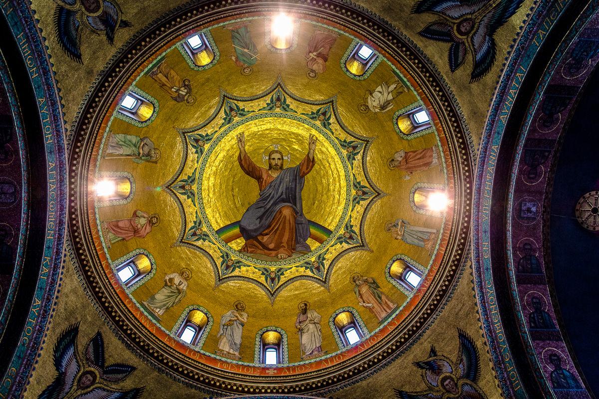Greek Wedding church ceiling decoration