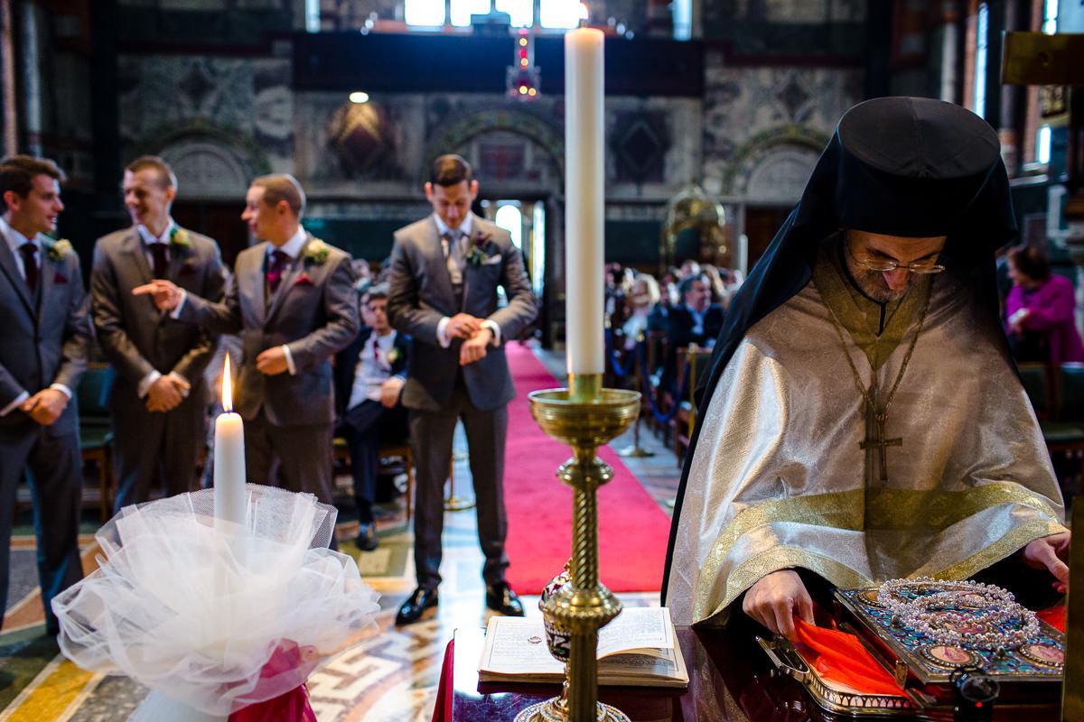 Greek Wedding ceremony at church