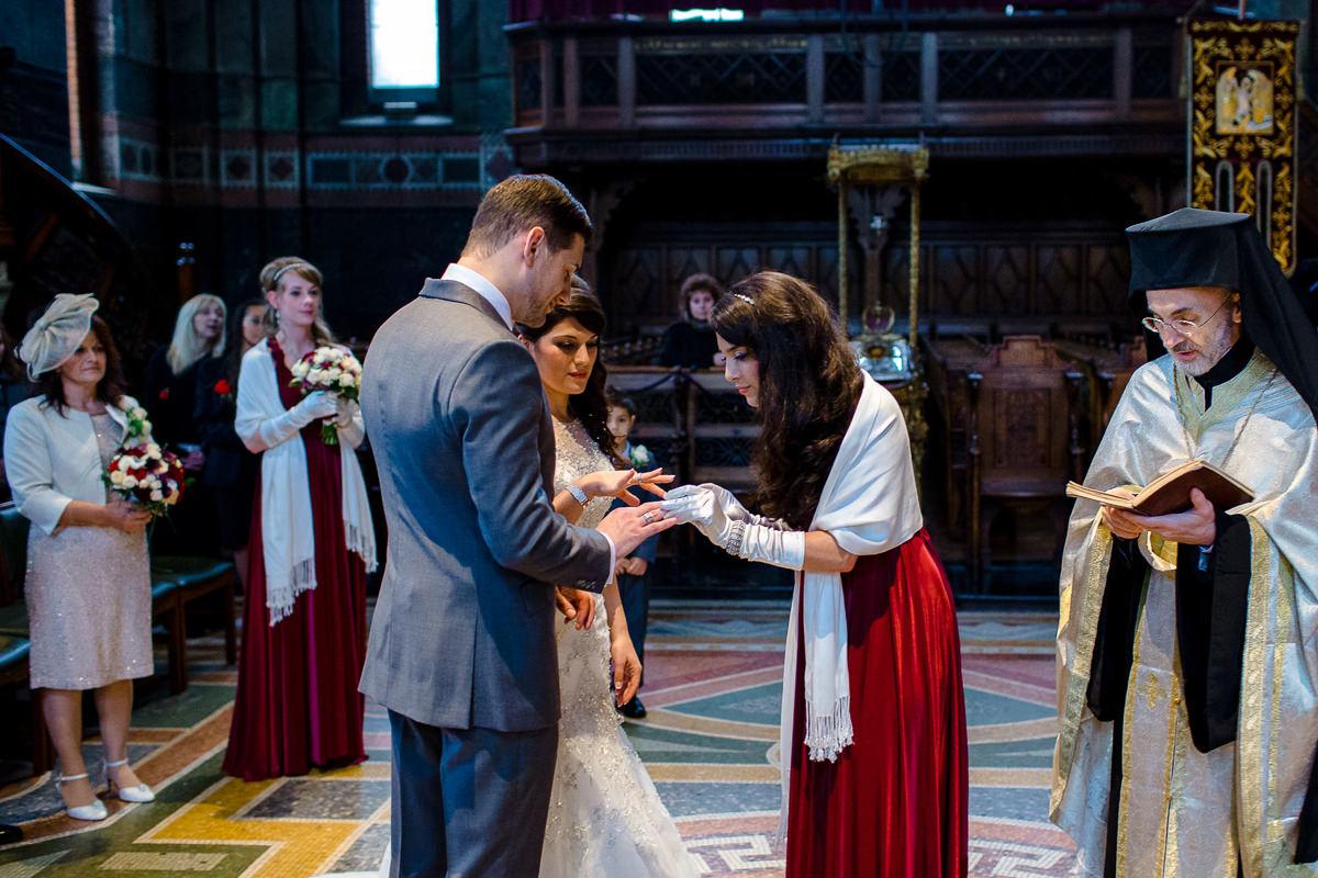 Greek Wedding ring ceremony