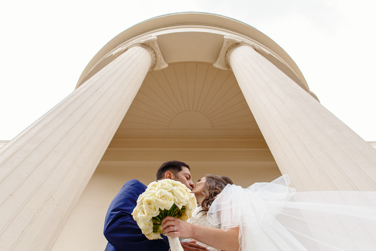 Greek Wedding bride and groom portrait