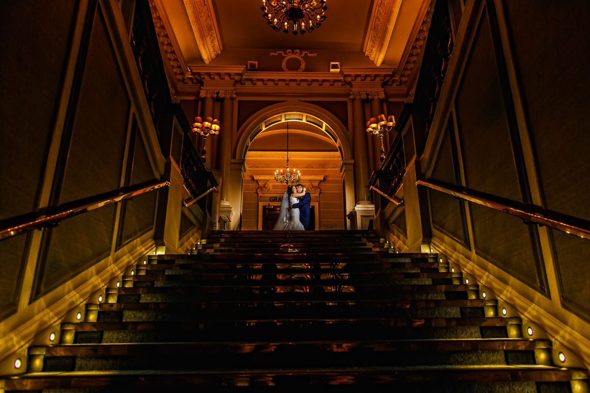 Greek Wedding Photography couple photo shot on the stairs