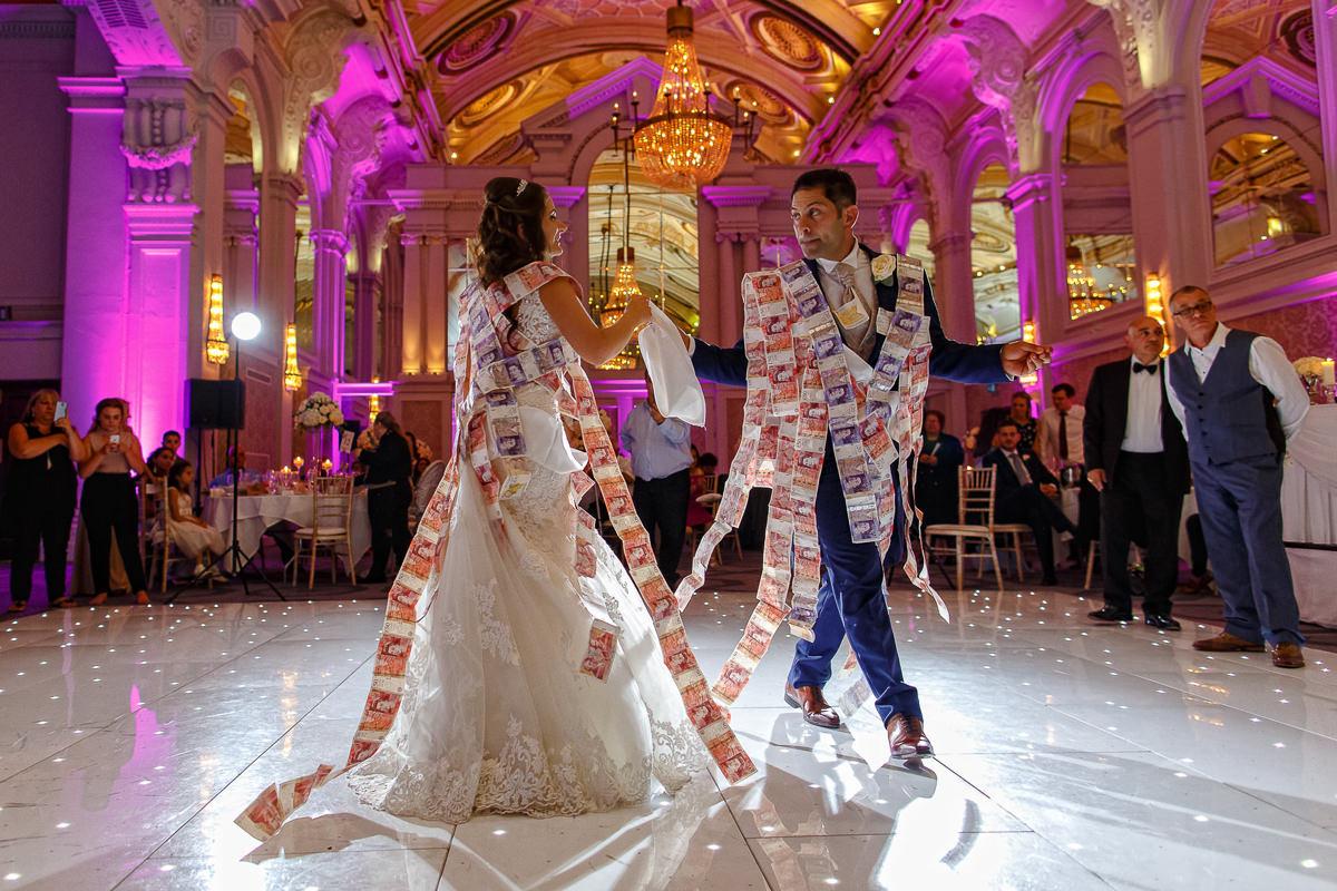 Greek Wedding Photography money dance