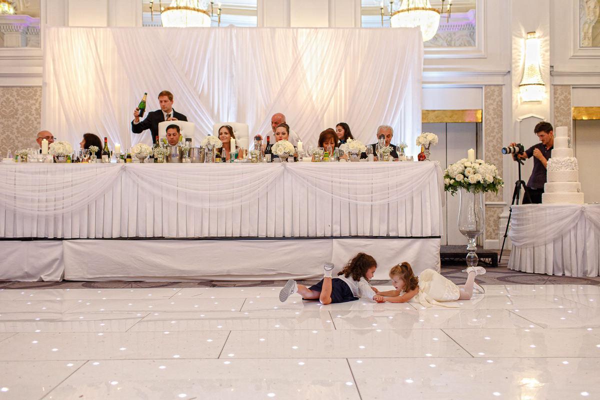 Greek Wedding kids playing on the dance floor