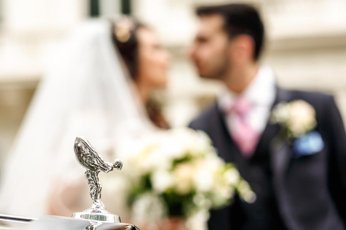 Greek Wedding portrait of the couple
