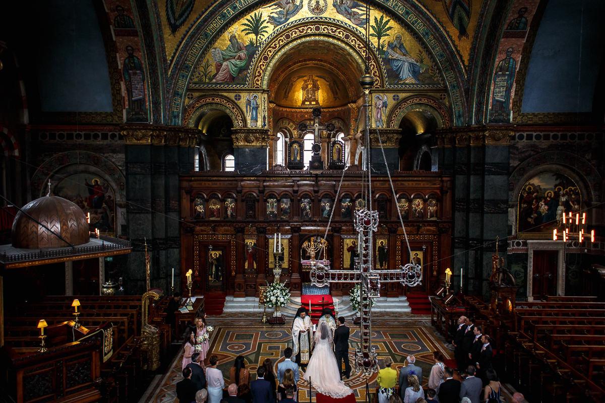 Greek Wedding at St Sophia in London