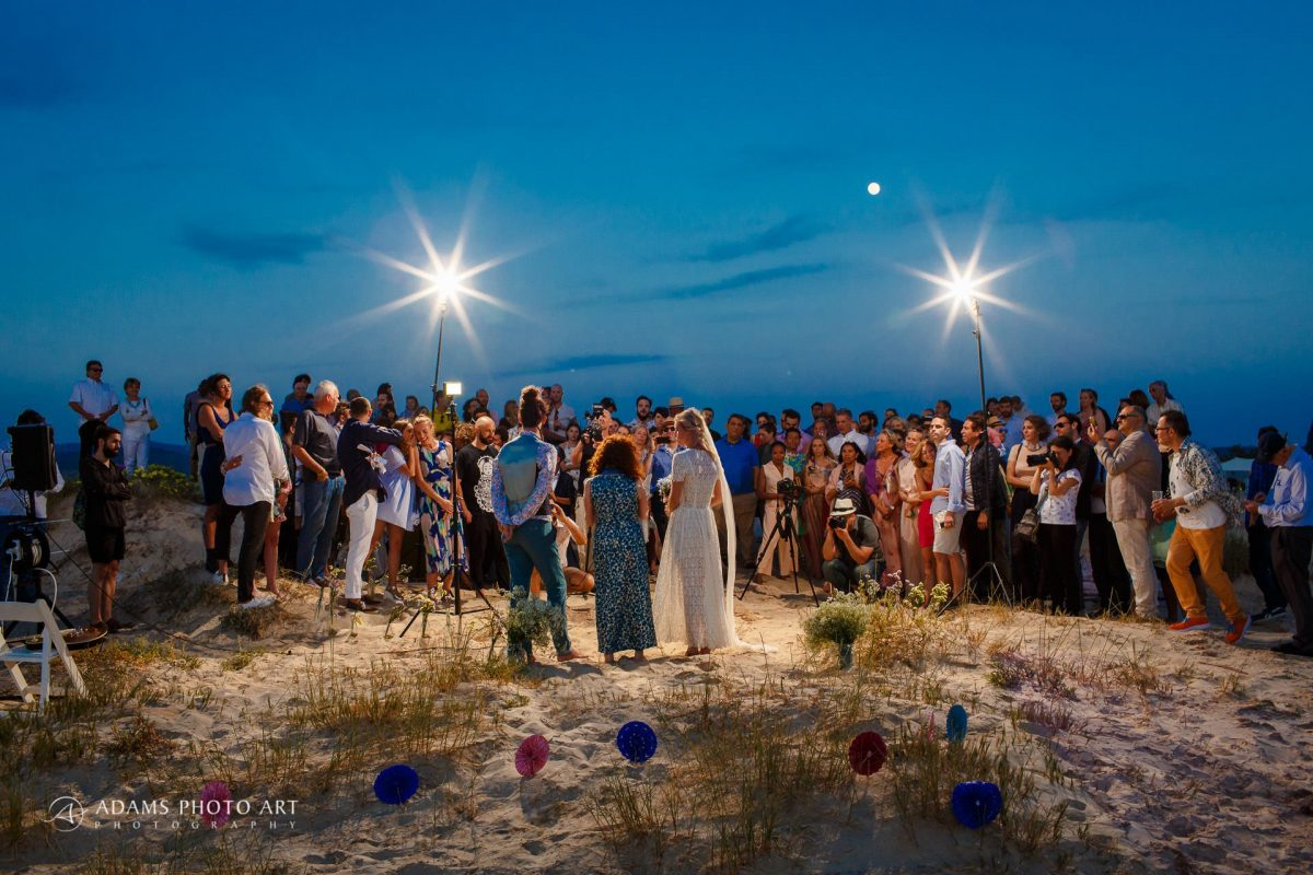 destination wedding photos at the beach ceremony