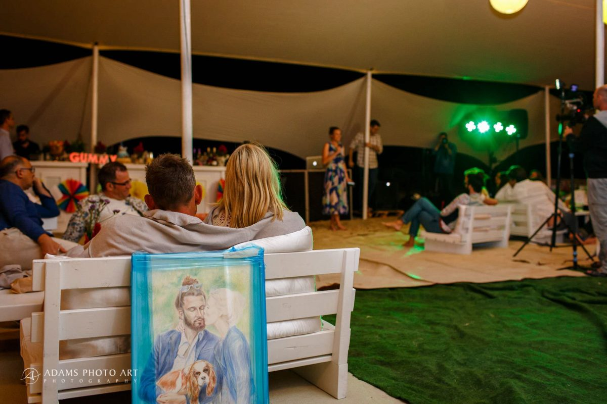 destination beach wedding photography of the party