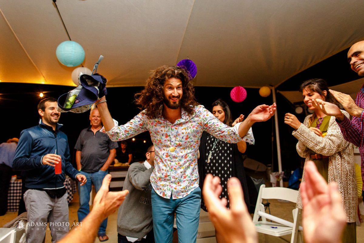groom on the destination wedding in israel