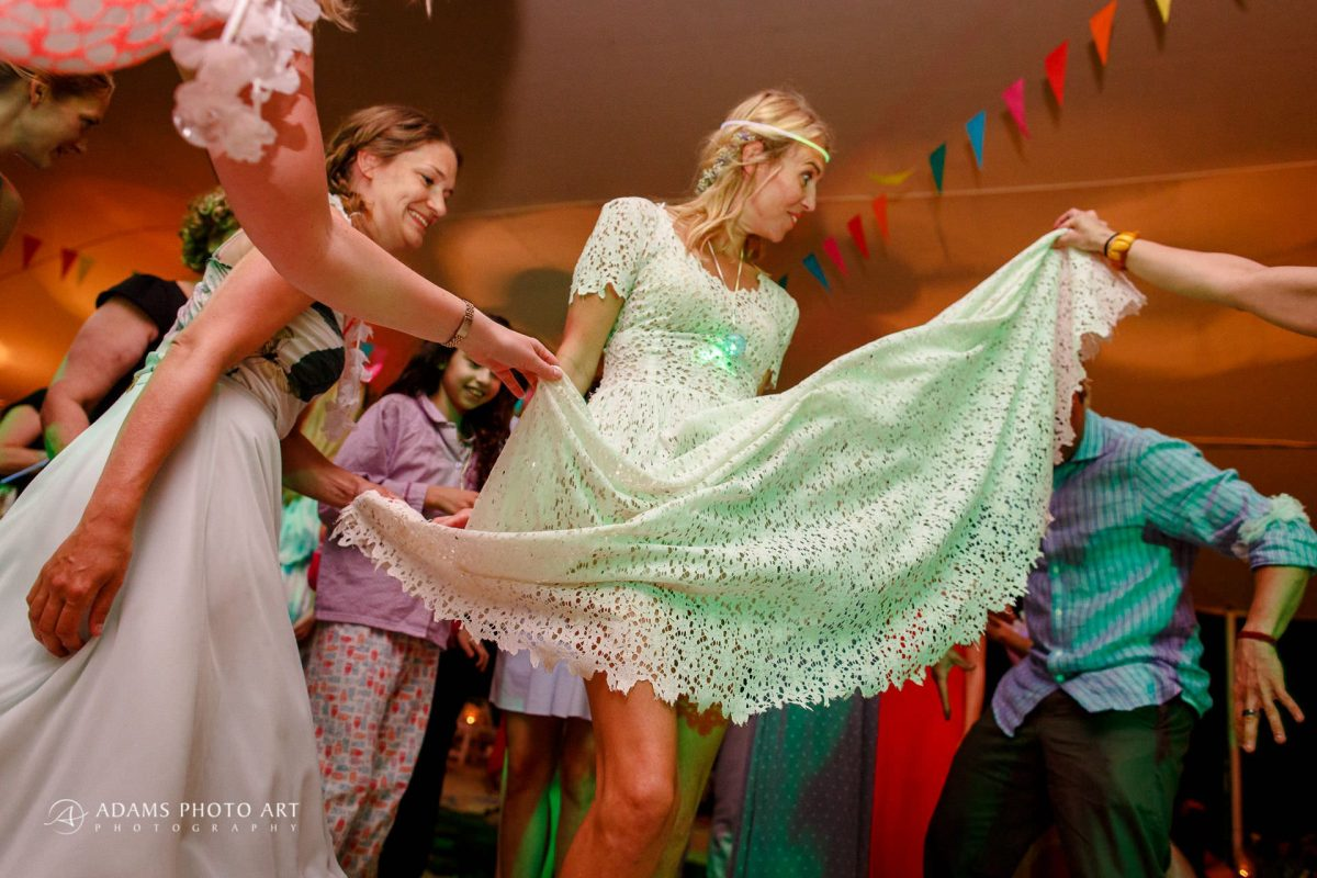 bride josefin during her wedding party