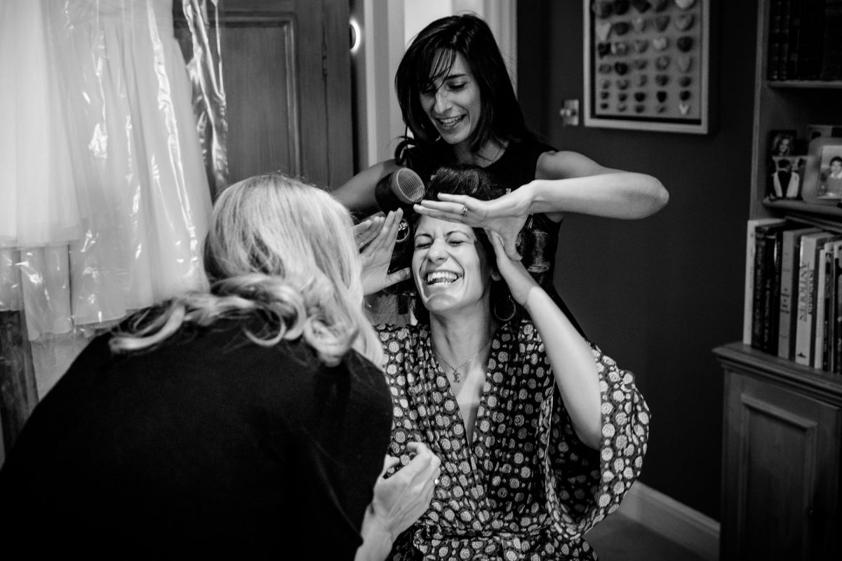 women preparations for the wedding ceremony in london