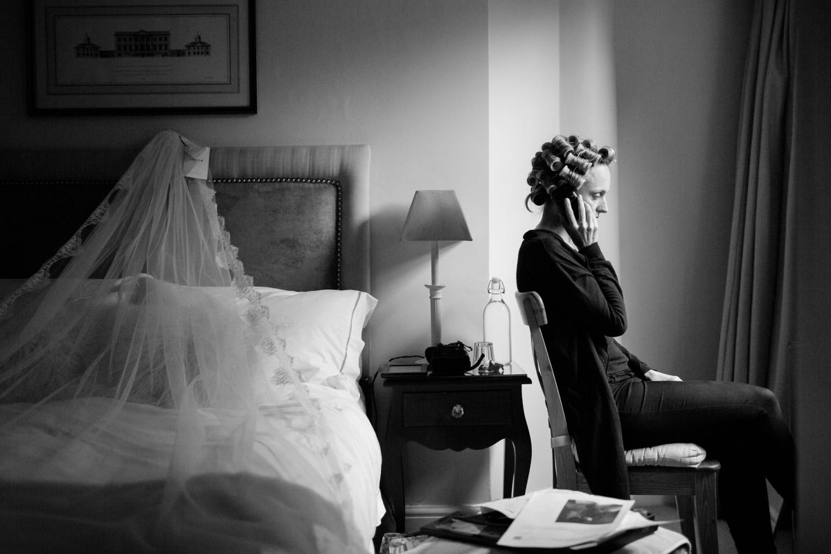 bride preparing for wedding
