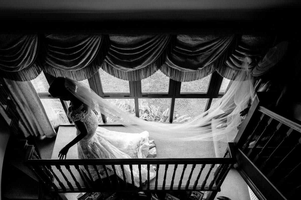 bride top view