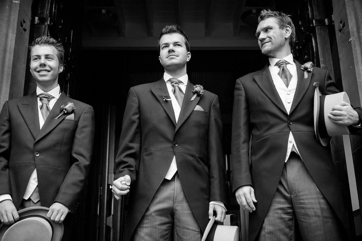 groom before his wedding ceremony in london