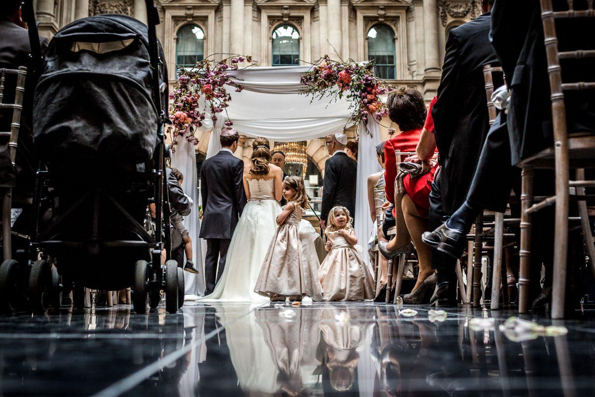 wedding ceremony from portfolio of london photographer for wedding