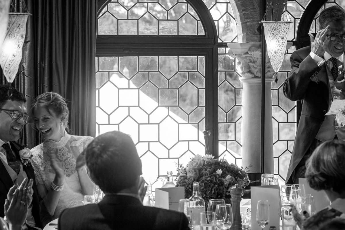 black and white photo of the wedding day