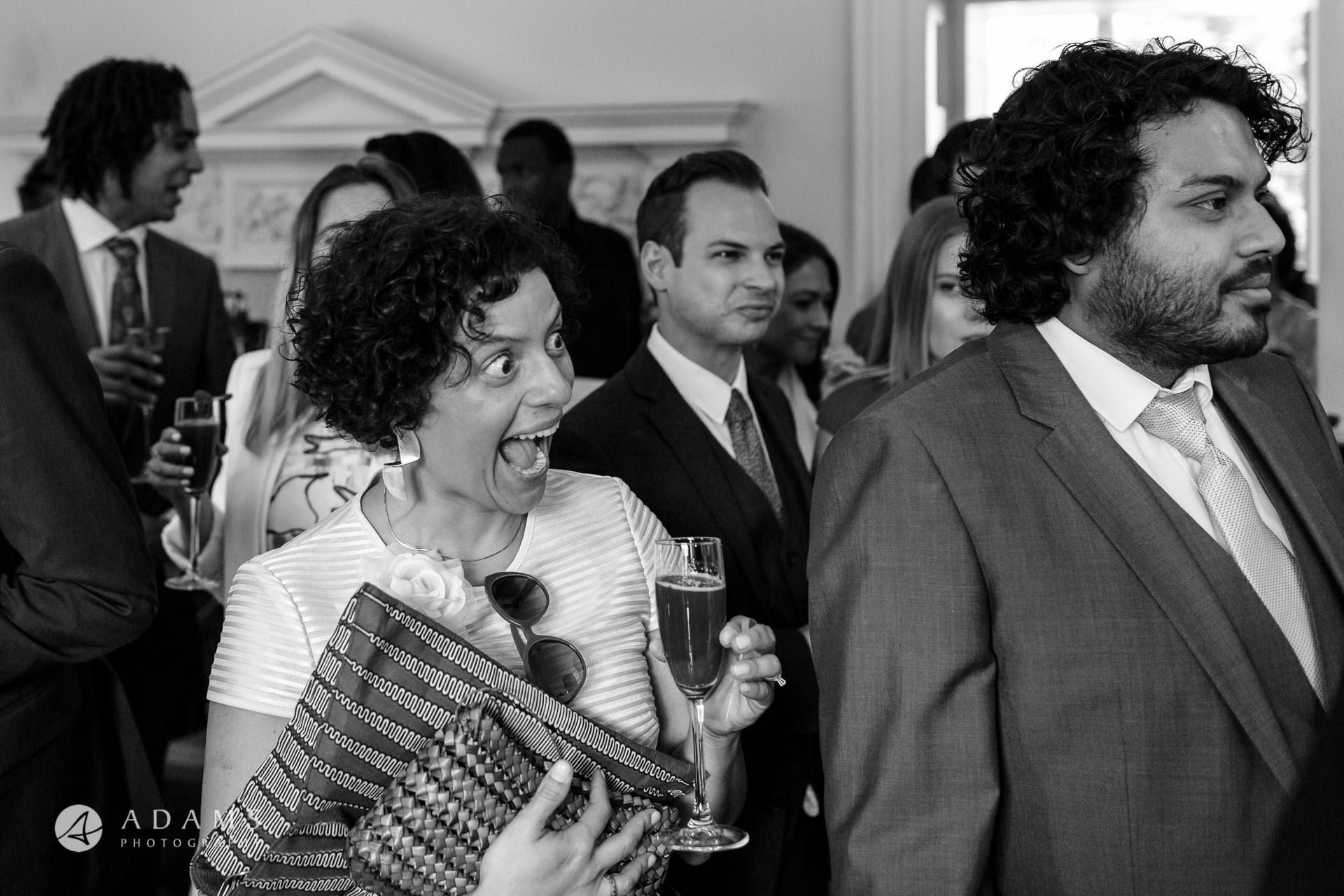 Morden HallWedding guest greet the married couple at Morden Hall