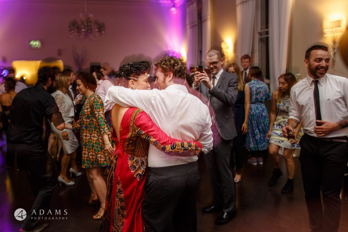 dancing and party at Morden Hall wedding