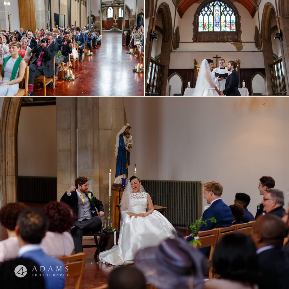 view of the church st mary of eton the morden hall wedding photographer