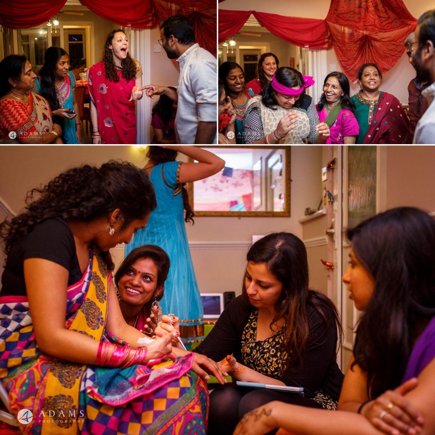 Tamil Mehndi Night | Tamil Gold Melting Ceremony 15