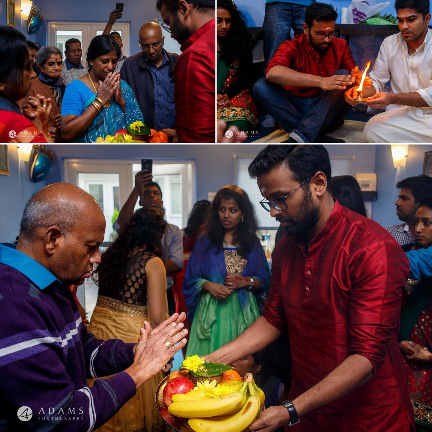 Tamil Mehndi Night | Tamil Gold Melting Ceremony 33