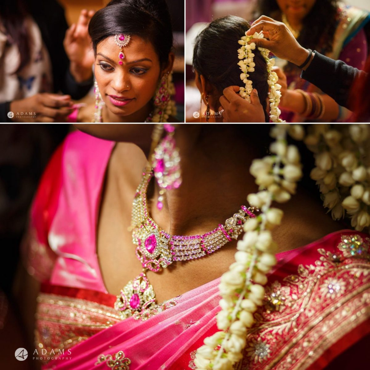 tamil bride prepars for her wedding