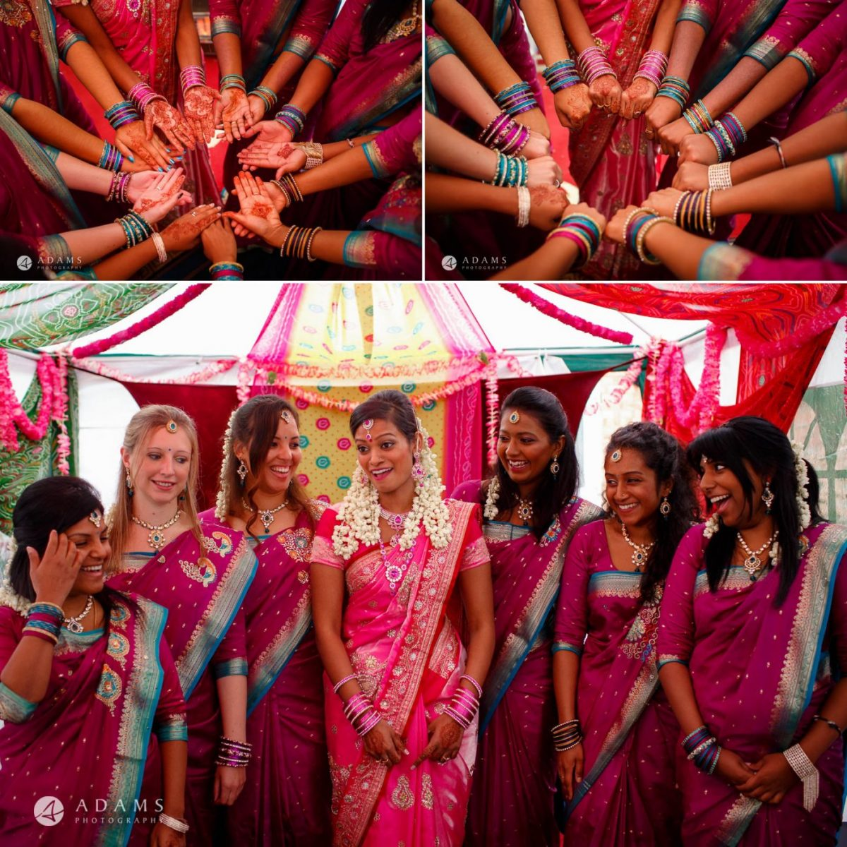 women on the tamil wedding in london