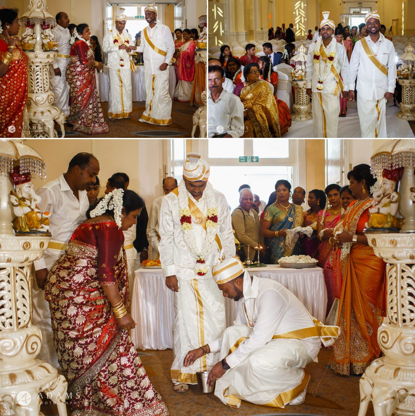 people on the traditional tamil wedding ceremony taking place in london city