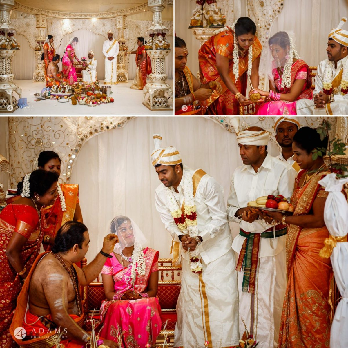 ceremony of the asian tamil wedding in london