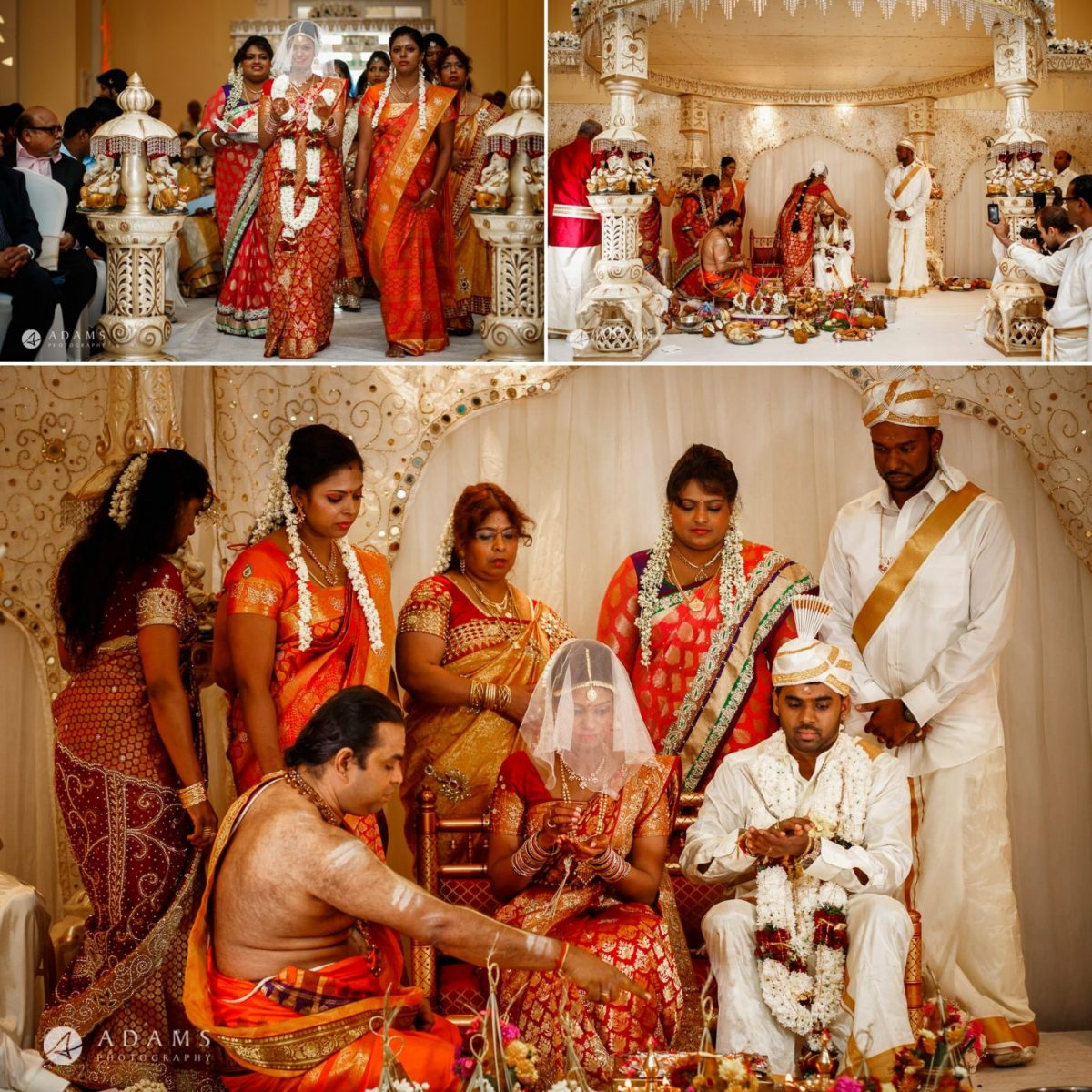sara and anojan and their family the photo from the london wedding