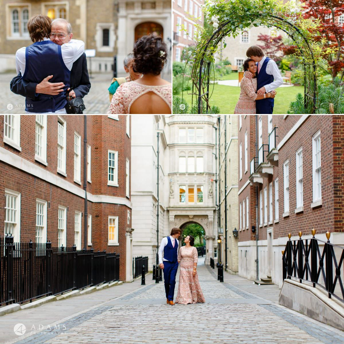 middle temple hall wedding couple photo shoot outside the venue