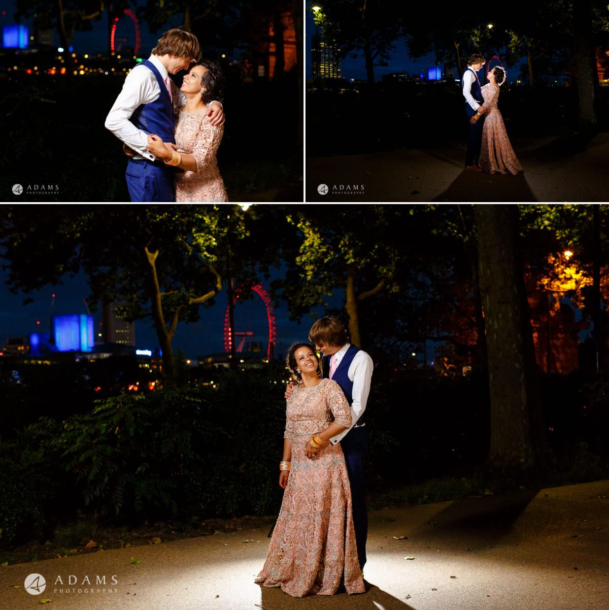 middle temple hall wedding photography couple photo shoot during the blue hour view of london
